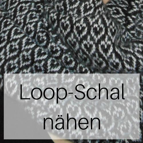 Loop-Schal nähen