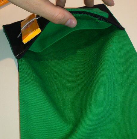 Grüne Tabaktasche