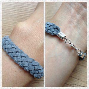 Armband aus Leder flechten