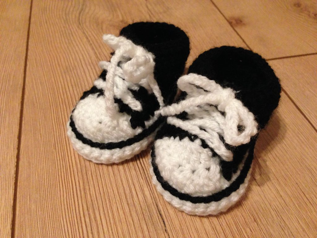 gehäkelte Chucks Schuhe