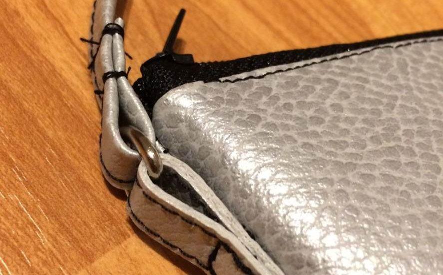 Handtasche silber Kunstleder