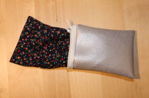Reißverschluss-Tasche wenden