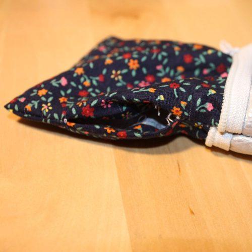Reißverschluss-Tasche Wendeöffnung