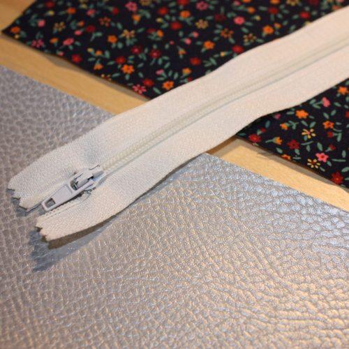 Reißverschluss-Tasche Material