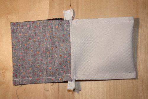 Reißverschluss-Tasche Seitennähte