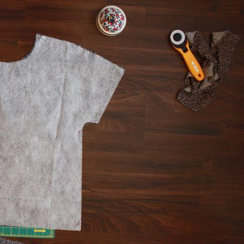Zuschnitt der Bluse