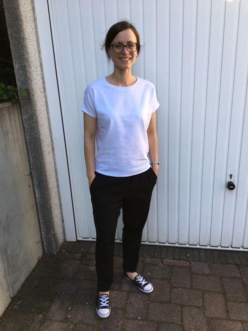 Weißes Leinen-Shirt