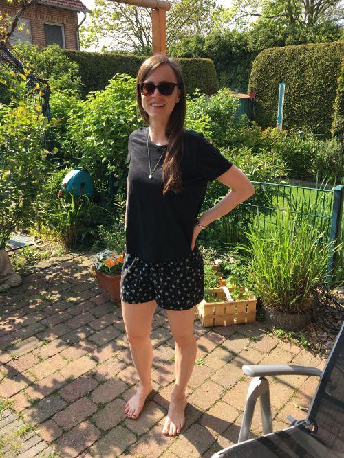 Shorts mit Gummiband als Bund