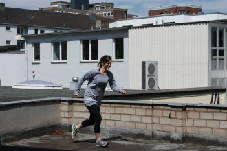 Joggingpullover aus Sweatstoff