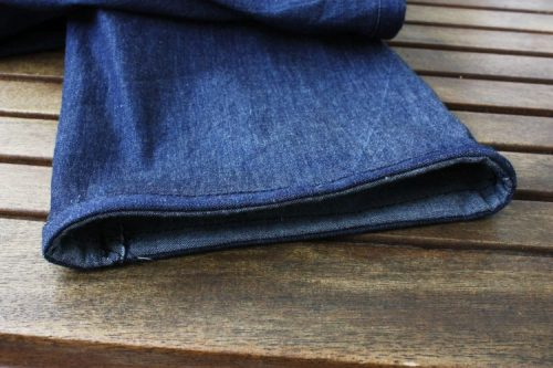Denim Flatterhose Beinumschlag