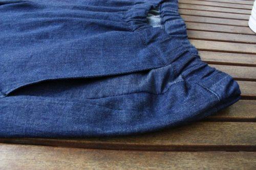 Denim Flatterhose Tasche