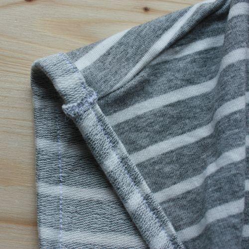 Ärmel-Umschlag Streifenshirt