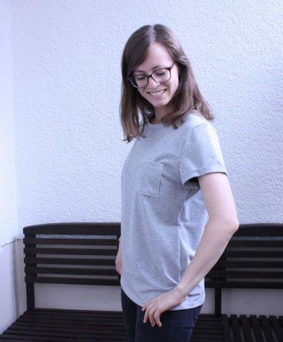 T-Shirt Ava Ärmelaufschlag