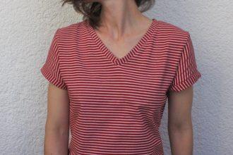 Shirt Ava mit V-Ausschnitt