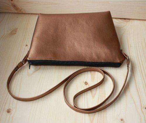 Handtasche Kunstleder Kupfer
