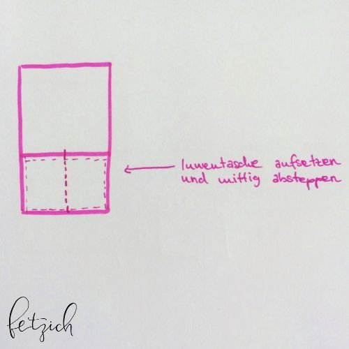 Zeichnung Innentasche