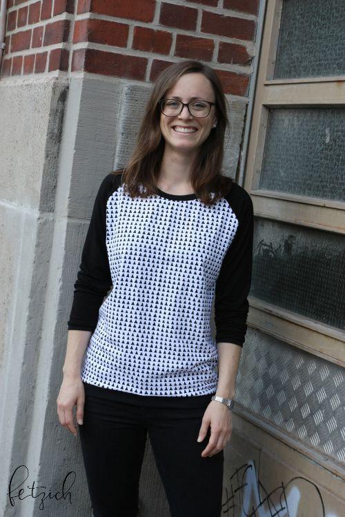 Shirt Amy mit Raglanärmeln