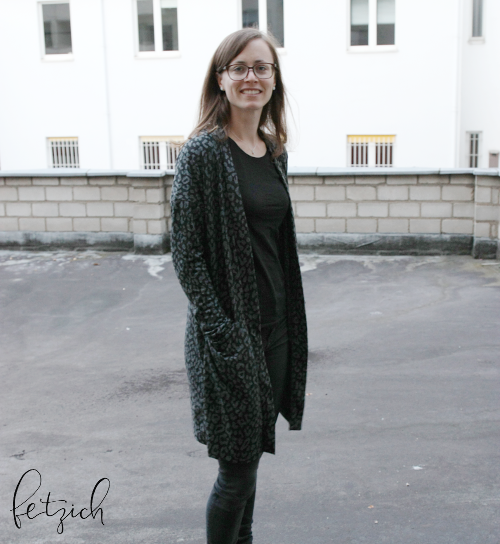 Cardigan im Leoparden-Look