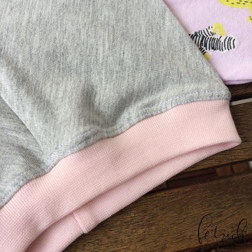 Leggins in grau mit rosa Bündchen