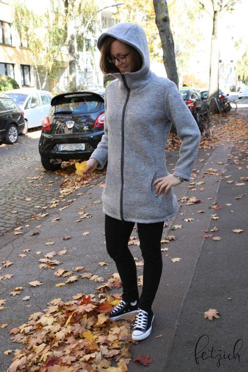 Mantel jErika aus Wollwalk
