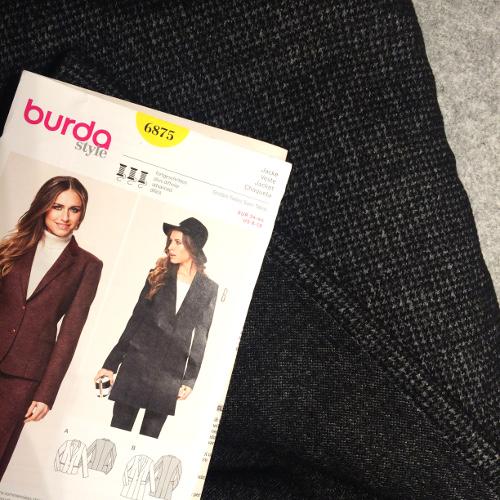 Mantel 6875 nach Burda