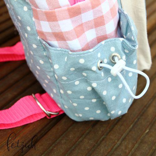 Pinke Träger aus Gurtband