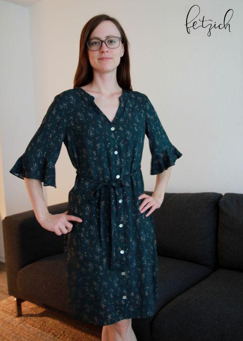 Kleid Bonn mit Volant-Ärmel