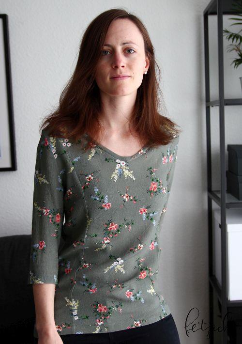 Tailliertes Burda Blusenshirt