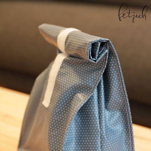 Lunchbag blau l - Nachhaltigkeit & Nähen