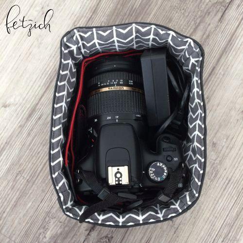 Kamera im Taschen-Inlay