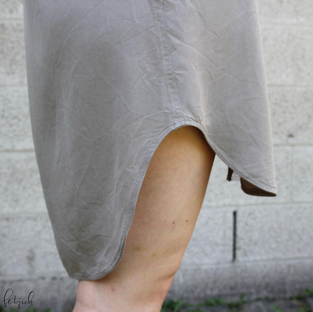 Saum des Kleides
