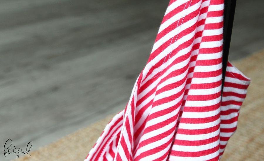 Jerseytop rot-weiß gestreift