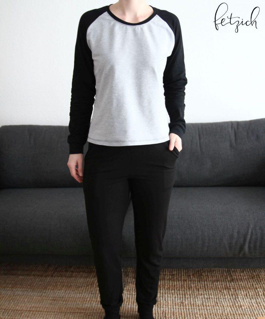Lieblings-Sonntagsoutfit: No Sweat Pants und Raglanshirt Amy