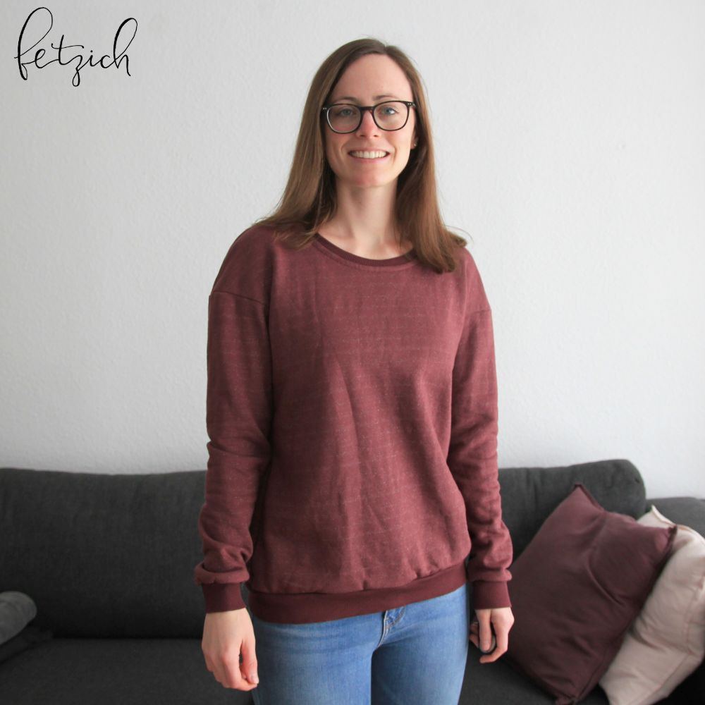 Pullover aus Organic Nep Sweat Grape von Mind the Maker