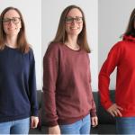 Pullover Zoey in drei verschiedenen Varianten