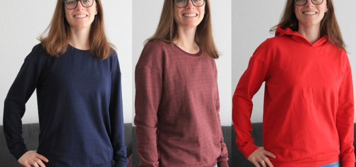 Pullover Zoey in drei Variationen
