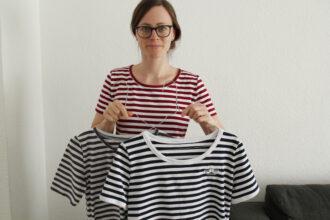 Basic T-Shirts mit Streifen