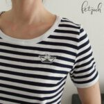 Shirt Liv blau-weiß