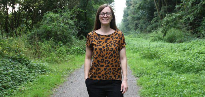 Inari Blusenshirt im Leopardenmuster